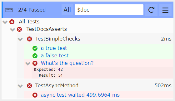 Simple blazor unit test view